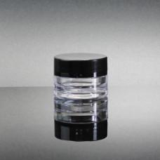 Jar Acrylic Wax Clear w/Black Cover