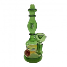 "Water Pipe GOG 8.5"" w/Donut whole Green"