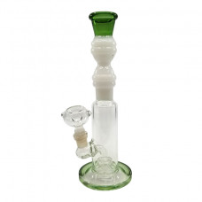 "Water Pipe GOG 10""  Clear & Frosted Streight"