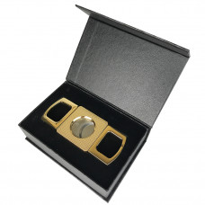Cigar Cutter Round 3.5 Gold Dots