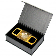 Cigar Cutter Round 3.5 Gold Waves