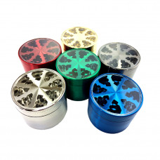 Grinder Metal 4pc 55mm Glass Top W/Lighting Wheel Style Mix