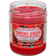 "Smoke Odor ""FRESH STRAWBERRIES"" Exterminator Candle"